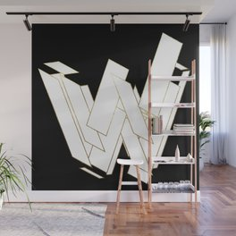 Beautiful Armor Letter W Wall Mural