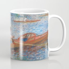 Oarsmen at Chatou Painting by Auguste Renoir Coffee Mug