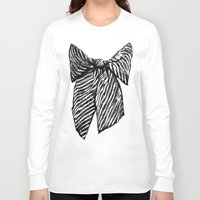 bow Long Sleeve T-shirts featuring Bow by Samantha Turnbull