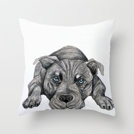 Deed, not breed... Throw Pillow