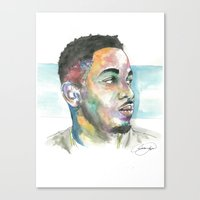 kendrick lamar Canvas Prints featuring Kendrick Lamar by Anthonylanza