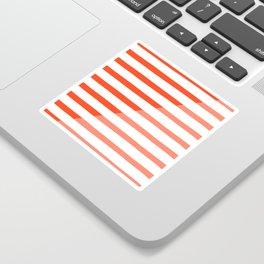 Beach Stripes Red Pink Sticker