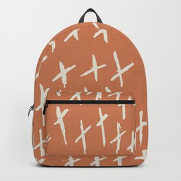 Funny XXX Abstract brush strokes vintage hand drawn illustration pattern Backpack