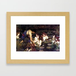 Hylas and the Nymphs,  John William Waterhouse Framed Art Print