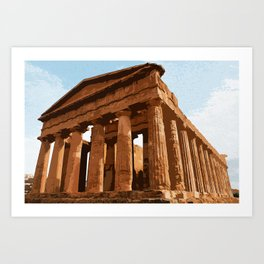 Agrigento and the Valley of the Temples Art Print