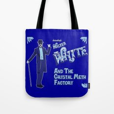 Walter White and the Crystal Meth Factory Tote Bag
