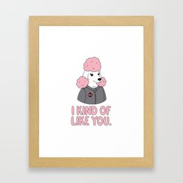 Pissed Poodle Framed Art Print
