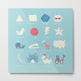 Geometry Cheat Sheet Metal Print