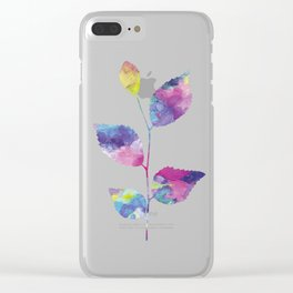 Colorful leaf Clear iPhone Case