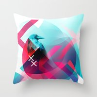 the xx Throw Pillows featuring XX by NewFoundBrand