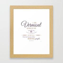 Vermont Poster Framed Art Print