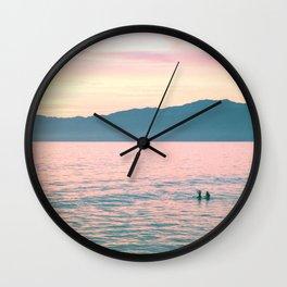 Beach Mountain Sunrise Wall Clock