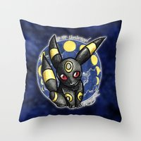 umbreon Throw Pillows featuring 197 - Umbreon by Lyxy
