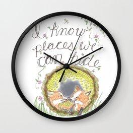Hidden Love Wall Clock