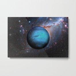 Planet Neptune Deep Space Telescopic Photograph Metal Print