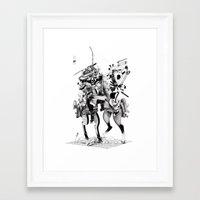samurai Framed Art Prints featuring Samurai! by HELLLOJOJO