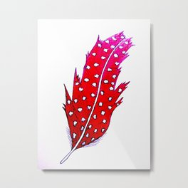 Glory Feather Metal Print