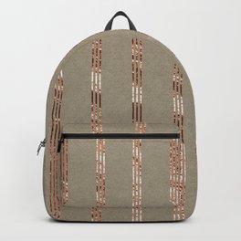 Rose gold stripes on natural grain Backpack