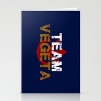 vegeta Stationery Cards featuring Team Vegeta by AJF89