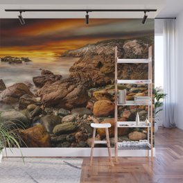 Rhoscolyn Coastline Sunset Wall Mural