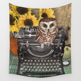 Office Owl Wall Tapestry