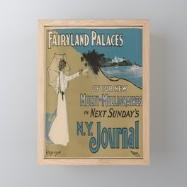 fairyland palaces   n.y. journal. 1900  poster Framed Mini Art Print