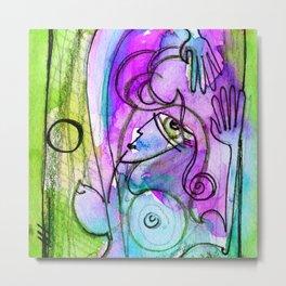 Abstract Nude Goddess No. 40D by Kathy Morton Stanion Metal Print