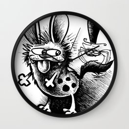The Hyena and the Spider #1 Wall Clock