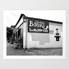 Linda's Books Art Print