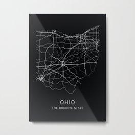 Ohio State Road Map Metal Print