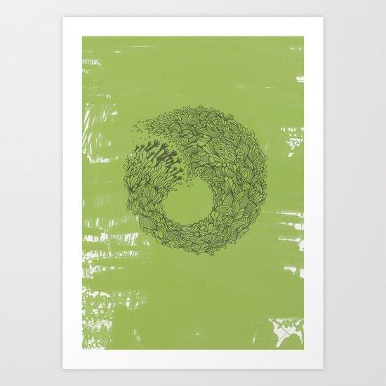 Home Green Art Print