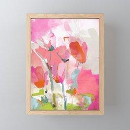 Floral abstract pink art Framed Mini Art Print
