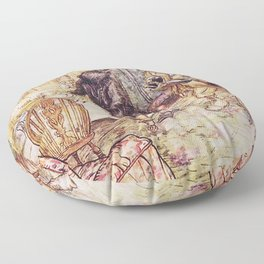 Wind in the willows ratty and mole Floor Pillow