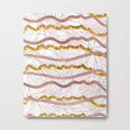 Glitter Lines Metal Print