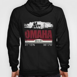 Omaha Hometown Cool City With GPS Coordinates Hoody