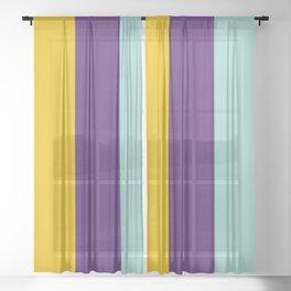 Colorful Stripes III Sheer Curtain