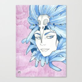 Lady Crow Canvas Print