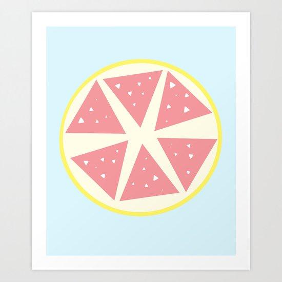 Grapefruit Art Print