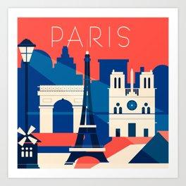 Abstract Paris Art Print