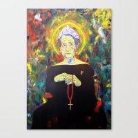 federico babina Canvas Prints featuring Juan Carlos I as Bernarda Alba. Homage to Federico Garcia Lorca by Antonimo-discipulosinmaestro
