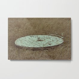wooden plate Metal Print