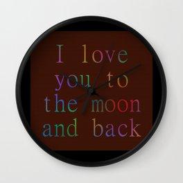 Moonlove. Wall Clock