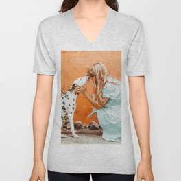 Pet Bound #pets #animals #animalslover #painting Unisex V-Neck