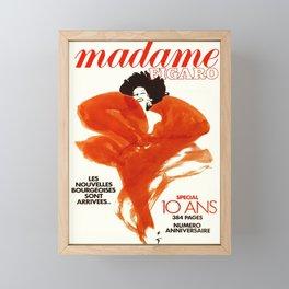 cartel madame figaro les nouvelles Framed Mini Art Print