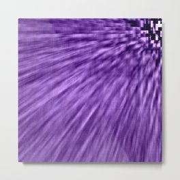 Grape Purple Pixel Wind Metal Print