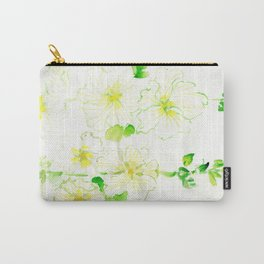White Hollyhocks Carry-All Pouch