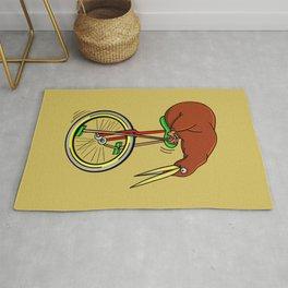 Kiwi Riding A Unicycle Rug