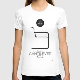 Mart Stam' S34 Cantilever Chair (minimalistic version) T-shirt