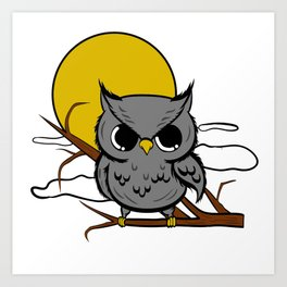 Owl Lover? A Perfect Owls Tee For You Made of Tools Owlet T-shirt Design Nocturnal Night Bird line Art Print