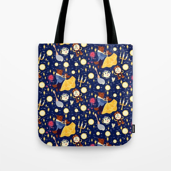 Be Our Guest Pattern Tote Bag